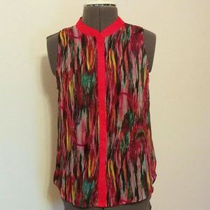 Multicolor sleeveless sheer top, Jack sz S